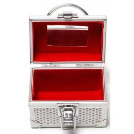 Стилна кутия за бижута, изработена от метал с метална закопчалка