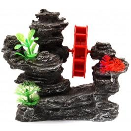 Декорация за аквариум - водно колело между морски скали