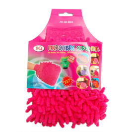 Микрофибърната ръкавица може да се използва за сухо и мокро почистване