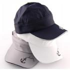 Младежка памучна шапка с козирка и апликации