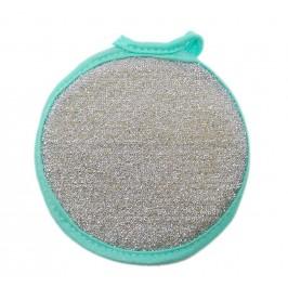 Домакински гъба за съдове с абразивно покритие от едната страна за лесно отстраняване на загорели повърхности