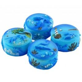 Сувенирна керамична кутийка с морски мотиви