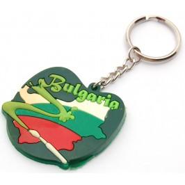 Сувенирен гумен ключодържател - България - 6см