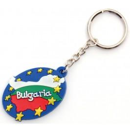 Сувенирен гумен ключодържател - България - 5см