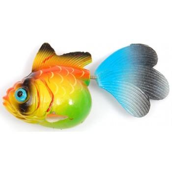 Сувенирна фигурка с магнит - риба принцеса - 6см
