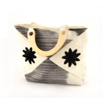 Плетена лятна чанта - 25х34см