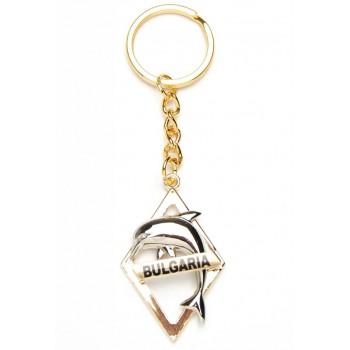 Сувенирен метален ключодържател - делфин