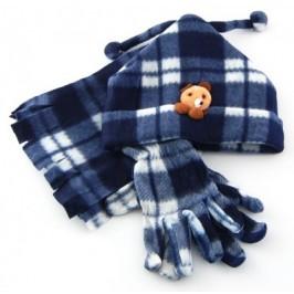 Комплект от полар - шапка, шал и ръкавички