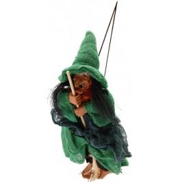 Декоративна малка вещица с метла за окачване