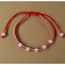 Мартеница плетена гривна с орнаменти