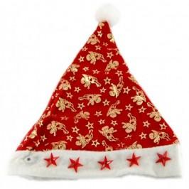 Коледна шапка, брокат и полар с декоративни светещи звездички