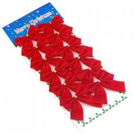 Комплект от 10 броя червени панделки - кадифе