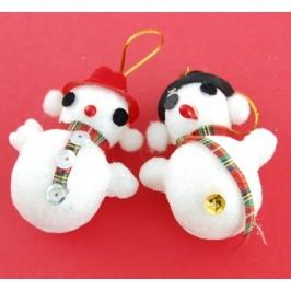 Коледна украса за елха - снежен човек