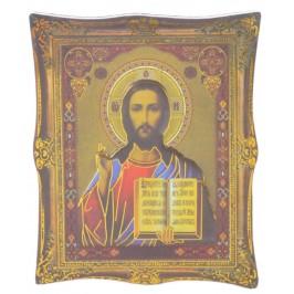 Икона с имитация на рамка върху магнитна основа - Исус Христос с отворена библия в ръката