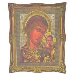 Икона с имитация на рамка върху магнитна основа - Дева Мария с младенеца
