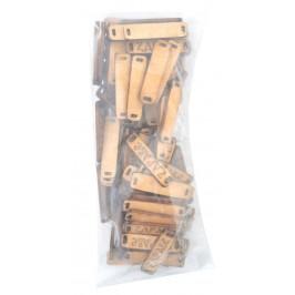 Лазерно рязан дървен елемент - плочка с надпис - Здраве