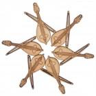 Лазерно рязан дървен елемент - гъдулка