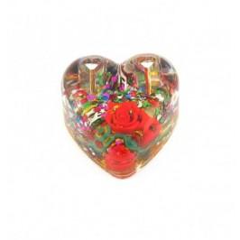 Сърце поставка за писалки, Вътрешност флуид и декорация
