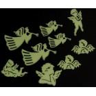 Комплект от шест броя фосфоресциращи фигурки - ангели