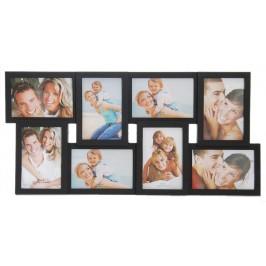 Черна мултирамка за 8 снимки