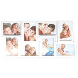 Бяла мултирамка за 8 снимки