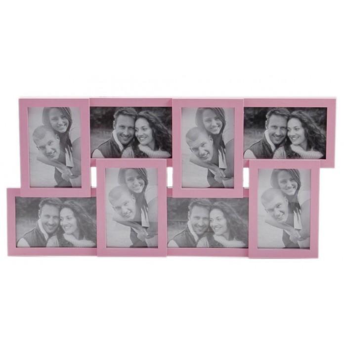 Стилна мултирамка за 8 снимки, изработена от PVC материал и фронт стъкло