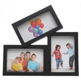 Мултирамка за 3 снимки, изработена от PVC материал и фронт стъкло