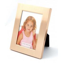 Мини рамка за снимки, изработена от метал - сребрист и златист