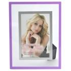 Стъклена рамка за снимки с външен цветен кант, изработен от PVC материал