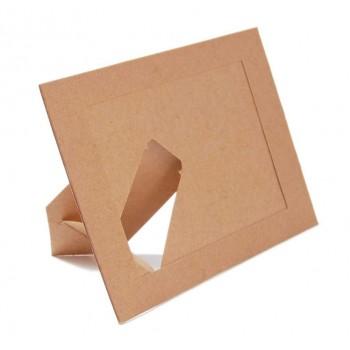 Картонена рамка за снимки, която може да бъде декорирана по собствен вкус