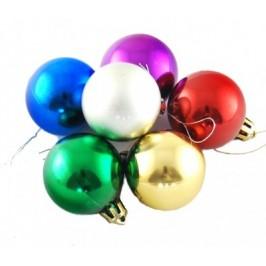 Комплект от разноцветни коледни топки за окачване на елха