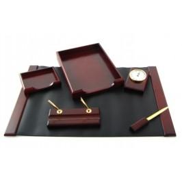 Луксозен дървен комплект за бюро от шест части