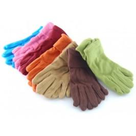 Меки дамски зимни ръкавици полар с двоен маншет