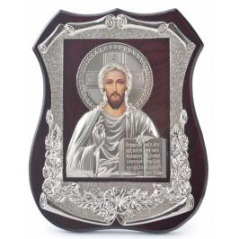 Настолна икона с лазерна графика, декорирана с релефна златиста рамка