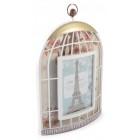 Стилна рамка за снимка във формата на клетка за птички, изработена от PVC материал и фронт стъкло и кукичка за окачване на стена