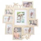 Красива мултирамка за 9 снимки, изработена от PVC материал и фронт стъкло