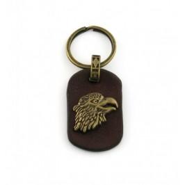 Кожен ключодържател с декоративна метална емблема