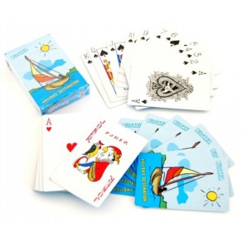 Сувенирни карти за игра, гръб и кутия - морска тематика