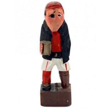 Сувенирна дървена фигурка - пират - 11см