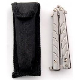 Сгъваем джобен нож тип пеперуда с калъф