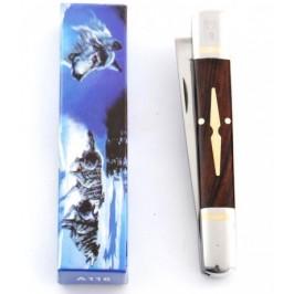 Сгъваем джобен нож с дървена дръжка