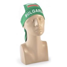 Ефектна кърпа за глава с цветовете на българския трикольор