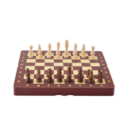 Комплект шах и табла в кутия с размери - 48х48 см