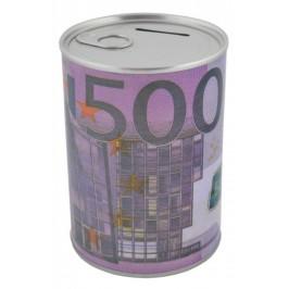 Метална касичка - консерва, декорирана с 500 евро