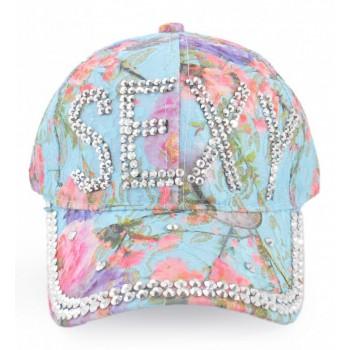 Спортна лятна шапка с козирка, декорирана с надпис SEXY и бели камъни