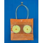 Лятна чанта PVC с декоративни цветя