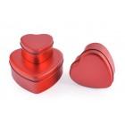 Красиви 3 бр семпли кутии във формата на сърце