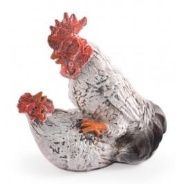 Сувенирна декоративна фигурка - влюбени петел и кокошка