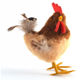 Декоративна фигурка - Великденско пиленце, изработено от естествен пух