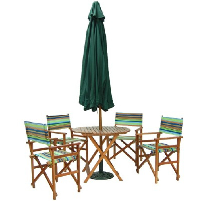Комплект сгъваеми градински мебели - дървена конструкция